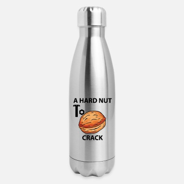 Hard Drive hard nut to crack - Insulated Stainless Steel Water Bottle