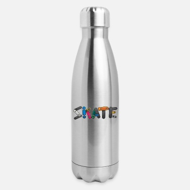 Skateboard Skate Boys Skateboard Skateboarding Gift - Insulated Stainless Steel Water Bottle