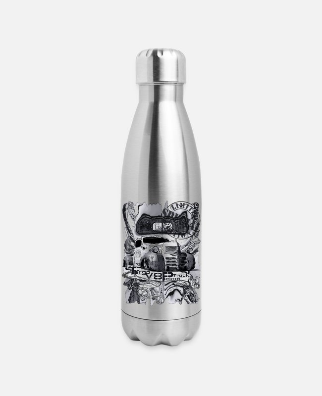 Trucks Mugs & Cups - Fargo v8 Pickup Truck grey styling special edition - Insulated Stainless Steel Water Bottle silver