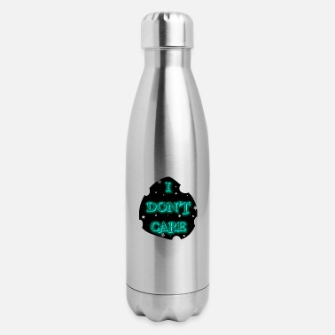 I DON T CARE IN CYAN - Insulated Stainless Steel Water Bottle
