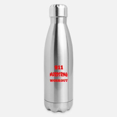 Funny Gym Workout Fitness - Insulated Stainless Steel Water Bottle