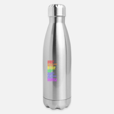 Vintage Bi Lgbt Distressed Science Is Real Black Lives Matter LGBT - Insulated Stainless Steel Water Bottle