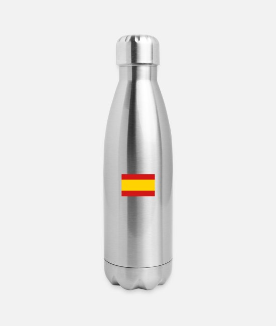 Don Quijote Mugs & Cups - National Flag Of Spain - Insulated Stainless Steel Water Bottle silver