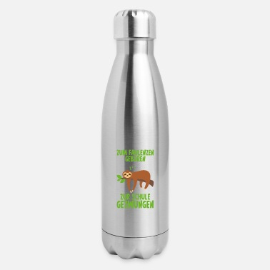 Grumpy Born to be lazy gift sloth Lounger - Insulated Stainless Steel Water Bottle