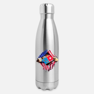 Memorial Day Events Domino with American Flag - Insulated Stainless Steel Water Bottle