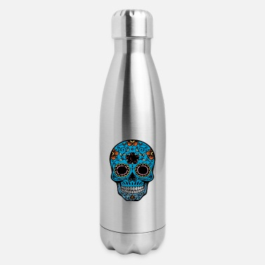 day of the dead skull - Insulated Stainless Steel Water Bottle
