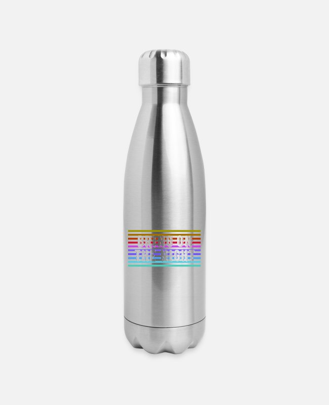 Design Mugs & Cups - Bring on the Night - Insulated Stainless Steel Water Bottle silver