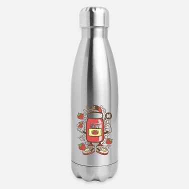 Drawing Strawberry Jam for animated characters comics and - Insulated Stainless Steel Water Bottle