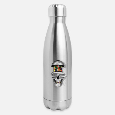 Rubik's Cube Skull - Insulated Stainless Steel Water Bottle