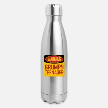 Teenager Teenager Birthday - Warning Grumpy Teenager - Insulated Stainless Steel Water Bottle