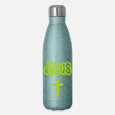 Catholic Jesus with cross - Insulated Stainless Steel Water Bottle