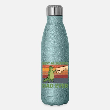 Turn On Best Alligator Dad Ever Father's Day Fist Bump Vin - Insulated Stainless Steel Water Bottle