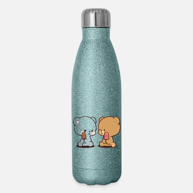 Milk milk milk milk mocha mocha mocha - Insulated Stainless Steel Water Bottle