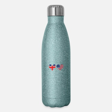 British American Flag British American Flag Hearts - Insulated Stainless Steel Water Bottle