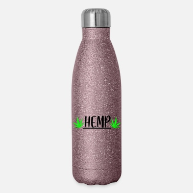 Hemp hemp with leaf - Insulated Stainless Steel Water Bottle