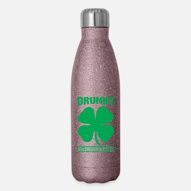 Drinking Drunky Mcdrunkerson Funny St Patricks Day Drinking - Insulated Stainless Steel Water Bottle