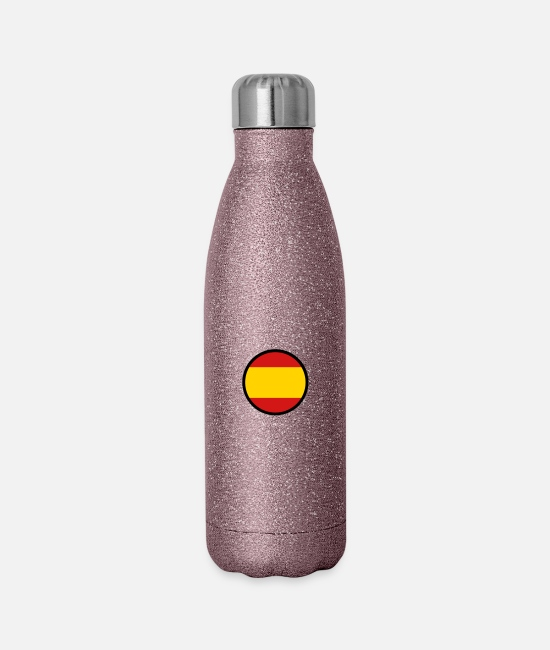 Don Quijote Mugs & Cups - Marked By Spain - Insulated Stainless Steel Water Bottle glitter pink