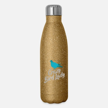 Bird Crazy bird lady 1 - Insulated Stainless Steel Water Bottle