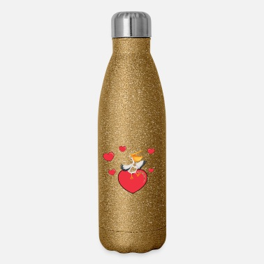 Pelican Pelican On A Heart - Insulated Stainless Steel Water Bottle