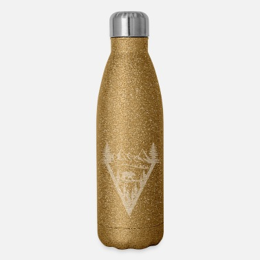 Black And White Collection Mountain bear - Insulated Stainless Steel Water Bottle