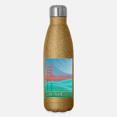 Metropolis The metropolis of technology San Francisco - Insulated Stainless Steel Water Bottle