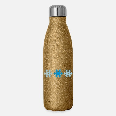 Snowflake snowflakes - Insulated Stainless Steel Water Bottle