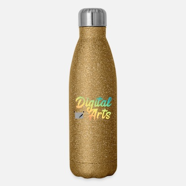 Arts digital arts colorful artistic gift idea - Insulated Stainless Steel Water Bottle