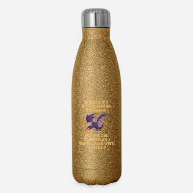 Dragons Lair Fantasy Meddle Not In The Affairs Of Dragons - Insulated Stainless Steel Water Bottle