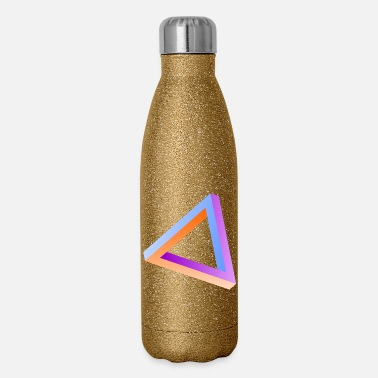 Visual Illusion Impossible triangle visual optical illusion - Insulated Stainless Steel Water Bottle