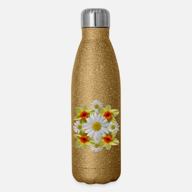 daisies floral bloom daisy spring daffodil florets - Insulated Stainless Steel Water Bottle