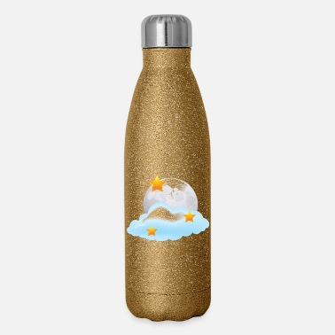 Nighttime Moon - Stars - Night - Space - Nighttime - Insulated Stainless Steel Water Bottle