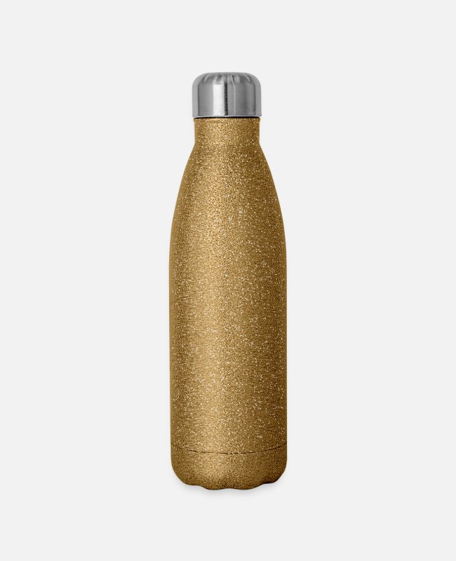 Dope Mugs & Cups - PLAYER - Insulated Stainless Steel Water Bottle gold glitter