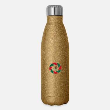 Central Mexico Mexico is my flag / Mexiko Central America - Insulated Stainless Steel Water Bottle