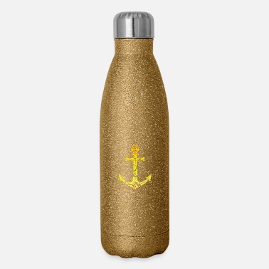 Punga Maori Anchor Tattoo Gift Idea - Insulated Stainless Steel Water Bottle