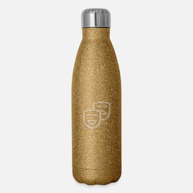 Icon university icon mask icon theater icon - Insulated Stainless Steel Water Bottle