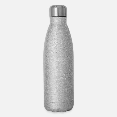 Geometric Pieces Zodiac Geometric Sign (white) - Insulated Stainless Steel Water Bottle