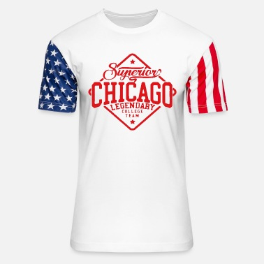 College Style Chicago College Style - Unisex Stars & Stripes T-Shirt