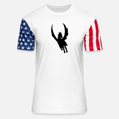 Bewinged pegasus - Unisex Stars & Stripes T-Shirt