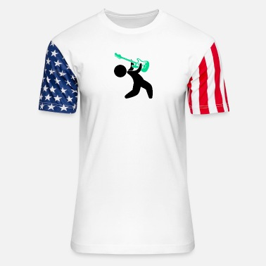 Music Star Music Star Playing The Guitar - Stars & Stripes T-Shirt