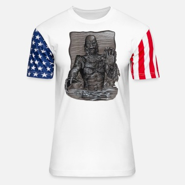 Creature Creature From The Black Lagoon - Unisex Stars & Stripes T-Shirt