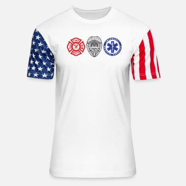 First Responders First Responders Three - Unisex Stars & Stripes T-Shirt