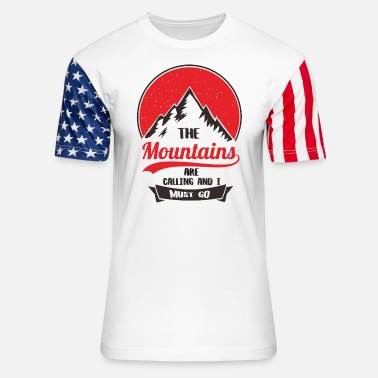 Posay Going to the Mountains is going home - Unisex Stars & Stripes T-Shirt