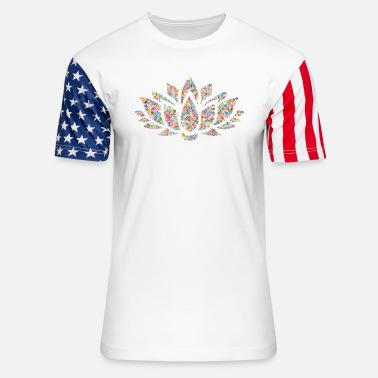 Painting Flower Mandala - Unisex Stars & Stripes T-Shirt