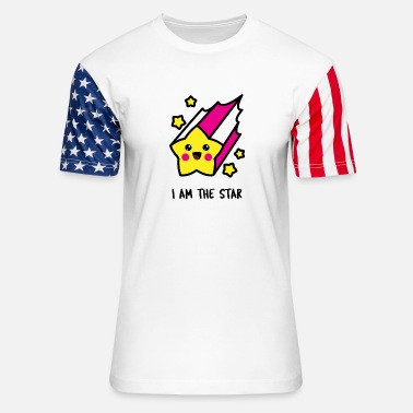 Babyparty I am the star - Unisex Stars & Stripes T-Shirt
