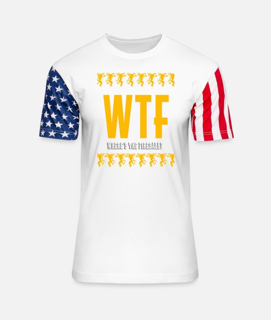 Ball T-Shirts - Fireball Whisky - Where's the fireball? - Unisex Stars & Stripes T-Shirt white
