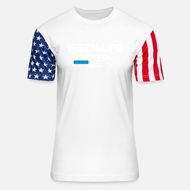 Work Out installing sixpack - Unisex Stars & Stripes T-Shirt