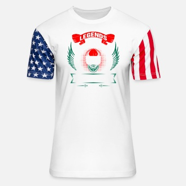 Hungary Legends are born in Hungary - Unisex Stars & Stripes T-Shirt