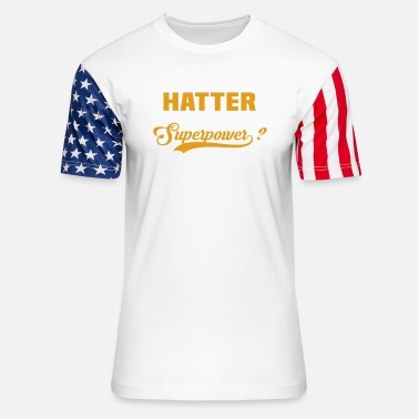 Red Hatter Hatter - Unisex Stars & Stripes T-Shirt
