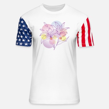 Lilies lily - Unisex Stars & Stripes T-Shirt