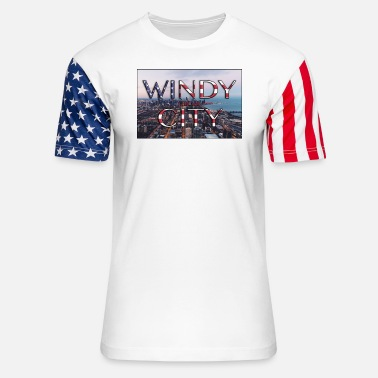 Windy City Windy City - Unisex Stars & Stripes T-Shirt